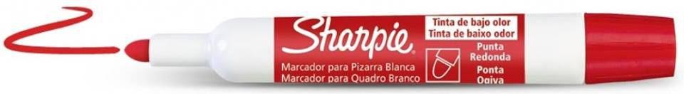 MARCADOR PARA QUADRO BRANCO VERMELHO - SHARPIE