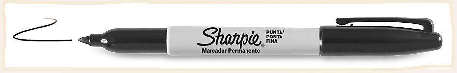 MARCADOR PERMANENTE PONTA FINA PRETO - SHARPIE