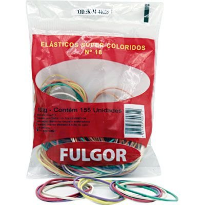 ELÁSTICO 18 SUPER COLORIDOS C/155 UNIDADES - FULGOR