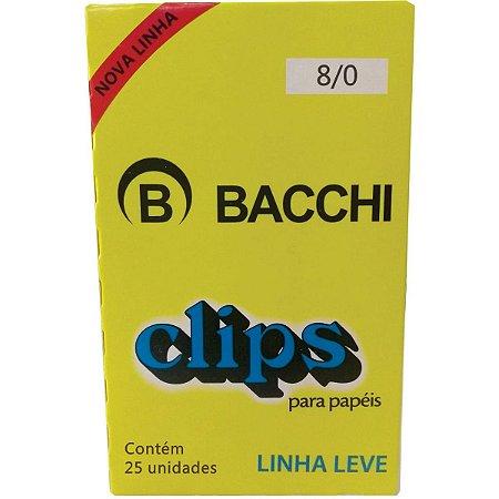 CLIPS Nº 8/0 AÇO GALVANIZADO LINHA LEVE C/25 UNIDADES - BACCHI