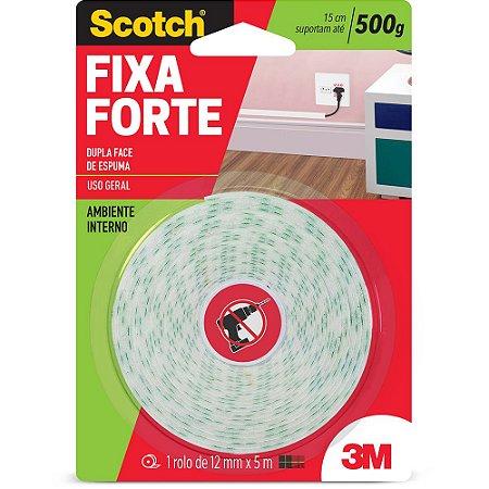 FITA DUPLA FACE SCOTCH FIXA FORTE ESPUMA 12MMX5M - 3M