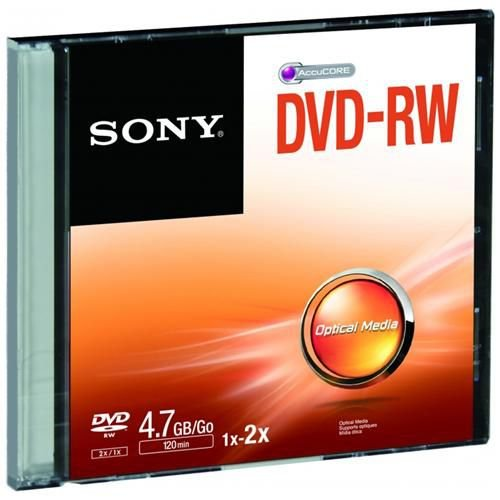 DVD-RW REGRAVÁVEL 4.7GB SLIM - SONY