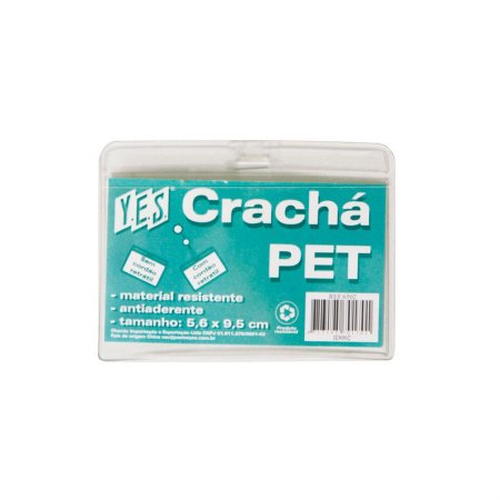 CRACHÁ HORIZONTAL EM PET ID002 CRISTAL - YES