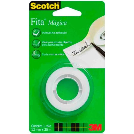 FITA MÁGICA SCOTCH 12MMX20M - 3M
