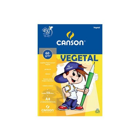 BLOCO VEGETAL A4 60 G/M² C/50 FLS - CANSON