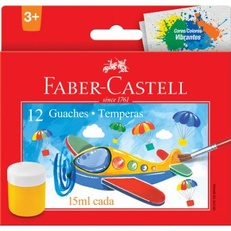 GUACHE 15ML 12 CORES - FABER-CASTELL