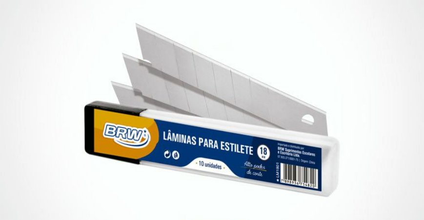 LÂMINA PARA ESTILETE LARGO C/10 UNIDADES - BRW