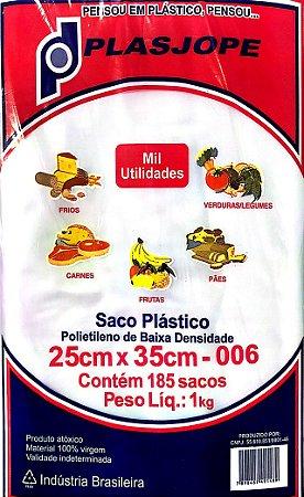 SACO PLÁSTICO PE 25X35X006 1KG - PLASJOPE