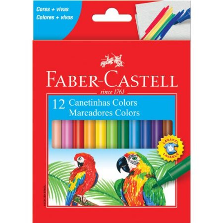 CANETINHA COLORS 12 CORES - FABER-CASTELL