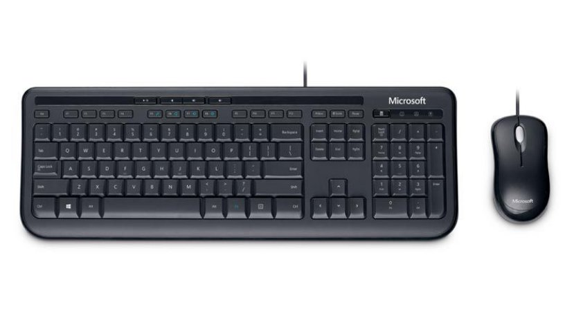 KIT WIRED DESKTOP 600 (TECLADO/MOUSE) APB-00005 PRETO - MICROSOFT