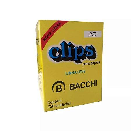 CLIPS Nº 2/0 (00) AÇO GALVANIZADO LINHA LEVE C/720 UNIDADES - BACCHI