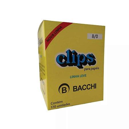 CLIPS Nº 8/0 AÇO GALVANIZADO LINHA LEVE C/170 UNIDADES - BACCHI