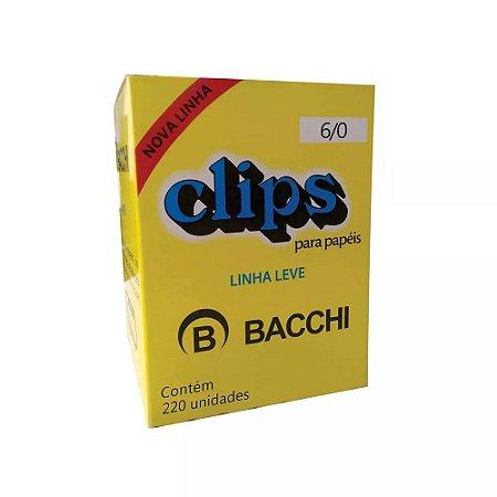 CLIPS Nº 6/0 AÇO GALVANIZADO LINHA LEVE C/220 UNIDADES - BACCHI