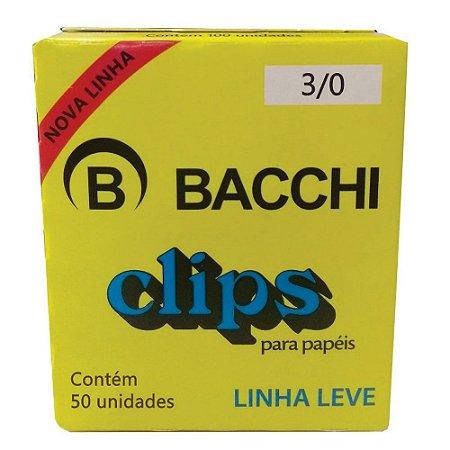 CLIPS  Nº 3/0 AÇO GALVANIZADO LINHA LEVE C/50 UNIDADES - BACCHI