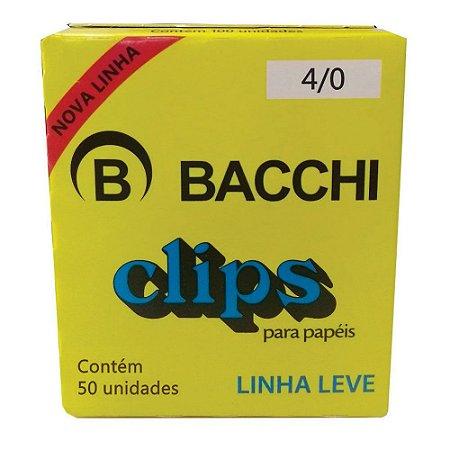 CLIPS Nº 4/0 AÇO GALVANIZADO  LINHA LEVE C/50 UNIDADES - BACCHI