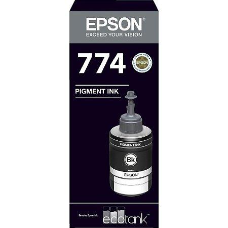 GARRAFA DE TINTA EPSON T774120-AL PRETO - 140ML