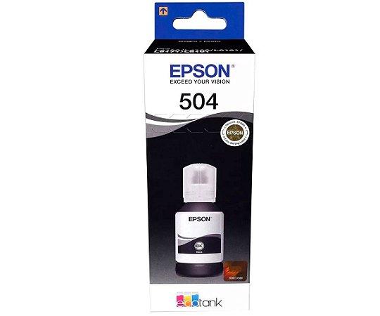 GARRAFA DE TINTA EPSON T504120-AL PRETO - 127ML
