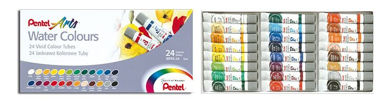 AQUARELA WFRS 24 CORES 5ML - PENTEL