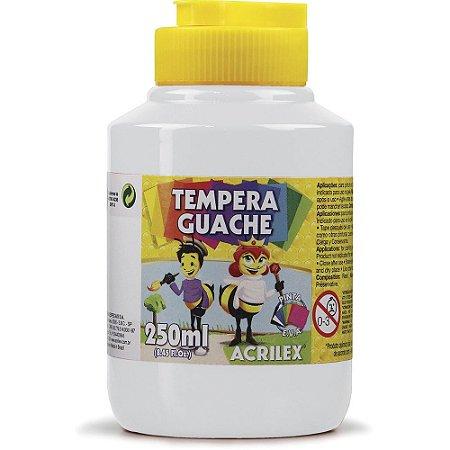 TEMPERA GUACHE 250ML 519 BRANCO - ACRILEX
