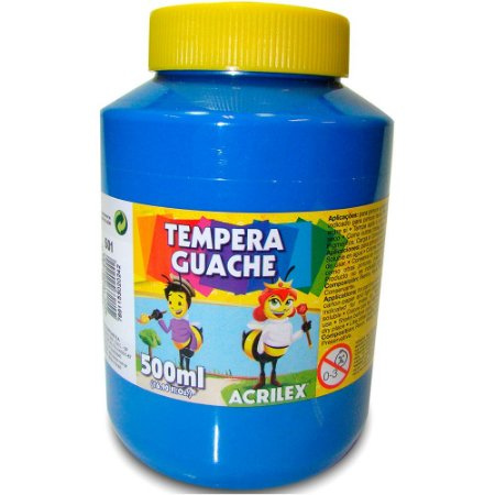 TEMPERA GUACHE 500ML 501 AZUL TURQUESA - ACRILEX