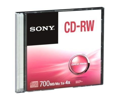 CD-RW REGRAVÁVEL 700MB SLIM - SONY