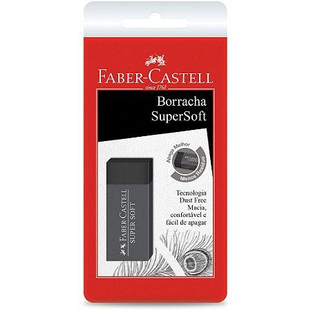 BORRACHA SUPER SOFT PRETA - FABER-CASTELL