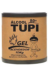 ÁLCOOL GEL TUPI ACENDEDOR 80º INPM - 10KG