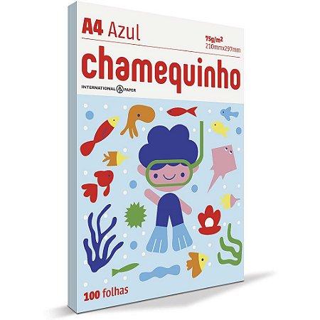 PAPEL CHAMEQUINHO A4 AZUL - 100 FLS