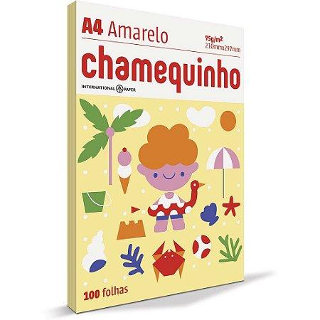 PAPEL CHAMEQUINHO A4 AMARELO - 100 FLS