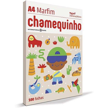 PAPEL CHAMEQUINHO A4 MARFIM - 100 FLS