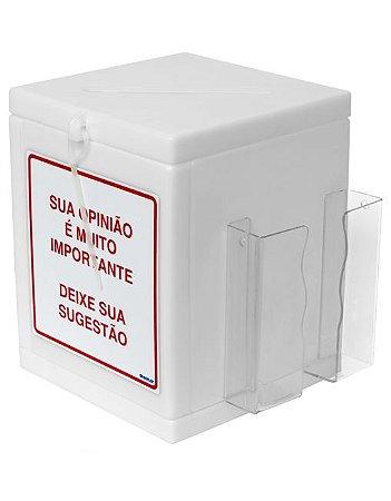CAIXA DE SUGESTÕES BRANCA LEITOSA - ISOFLEX