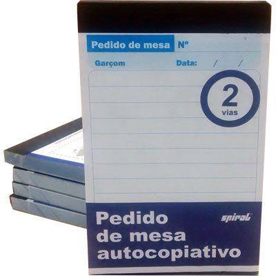 PEDIDO DE MESA AUTOCOPIATIVO 75MMX117MM 40X2 C/5 UNIDADES - SPIRAL