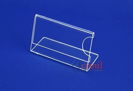 DISPLAY DE MESA HORIZONTAL 75MMX40MM CRISTAL C/6 UNIDADES - ACRINIL