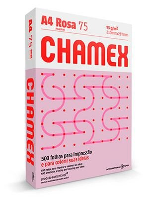 PAPEL CHAMEX COLORS A4 75 210MMX297MM ROSA - 500 FLS