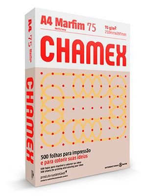PAPEL CHAMEX COLORS A4 75 210MMX297MM MARFIM - 500 FLS