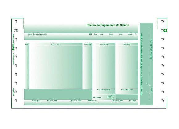 RECIBO DE PAGAMENTO DE SALÁRIO VERDE C/2000 JOGOS - CHIES