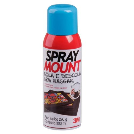 SPRAY MOUNT ADESIVO REPOSICIONÁVEL 290G - 3M