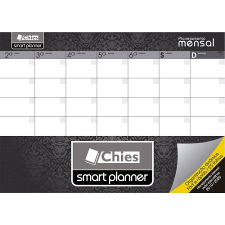 SMART PLANNER MENSAL A4 DELUXE C/24 FLS - CHIES