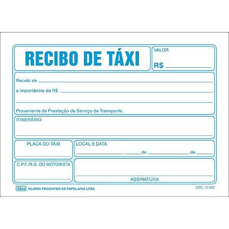 RECIBO DE TAXI C/50 FOLHAS - TILIBRA