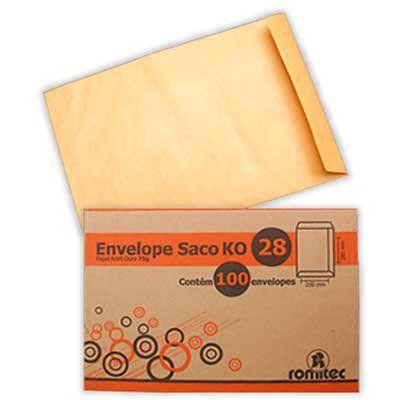 ENVELOPE KRAFT OURO 229MMX324MM C/100 UNIDADES - ROMITEC