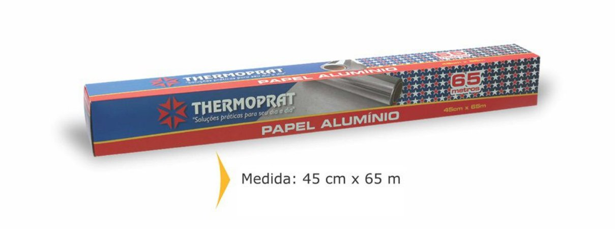 PAPEL ALUMÍNIO 45CMX65M - THERMOPRAT