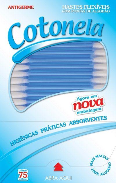 COTONETE FLEXÍVEL C/75 UNIDADES - COTONELA