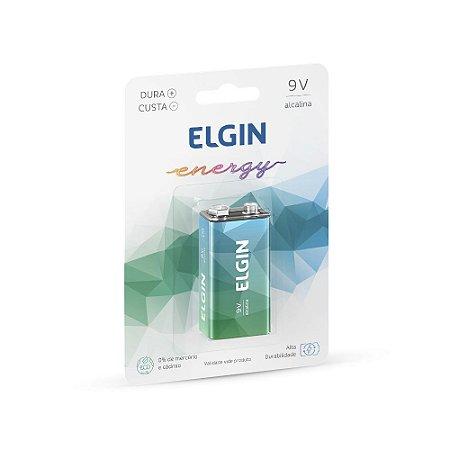 BATERIA 9V ALCALINA C/1 UNIDADE - ELGIN