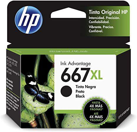 CARTUCHO HP 667XL 3YM81AL PRETO - 8,5ML