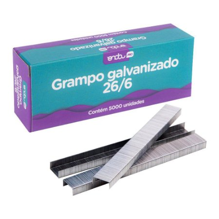 GRAMPO GALVANIZADO 26/6 C/5000 UNIDADES - ONDA