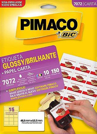 ETIQUETA CARTA GLOSSY BRILHANTE 7072 10 FOLHAS - PIMACO