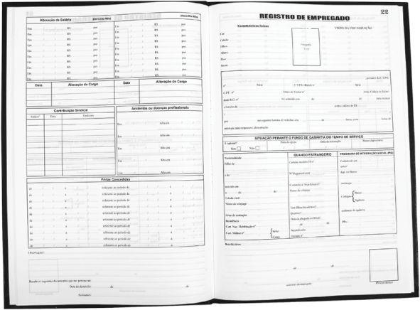 LIVRO REGISTRO DE EMPREGADO C/50 FLS - TAMOIO