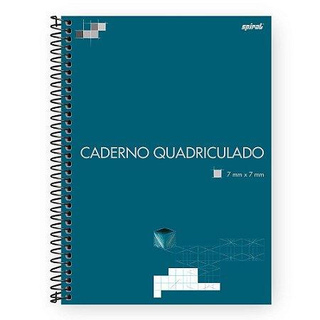 CADERNO UNIVERSITÁRIO CAPA DURA QUADRICULADO 7MMX7MM 96 FOLHAS - SPIRAL