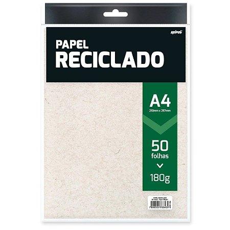PAPEL RECICLADO A4 180G C/50 FLS - SPIRAL