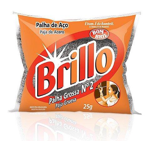PALHA DE AÇO BRILLO GROSSA Nº 2 25G - BOMBRIL